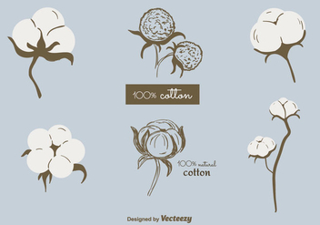 Free Cotton Plant Vector - Free vector #350721