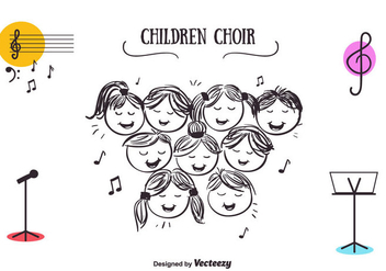 Free Children Choir Vector - vector gratuit #350761