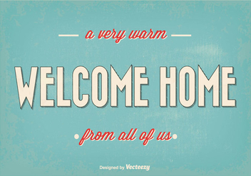 Retro Welcome Home Vector Illustration - бесплатный vector #350771