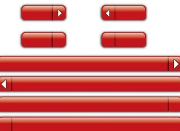 Red Glossy Buttons & Bars - vector gratuit #350991