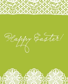 Lace Decoration Easter Card - vector gratuit #351021