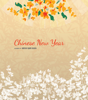 Chinese new year background - vector gratuit #351071