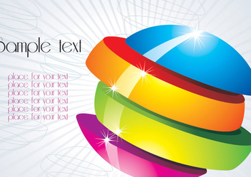 Multicolor Sliced Orb Background - vector gratuit #351091