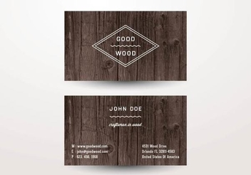 Two Parts Wooden Business Card - Free vector #351361