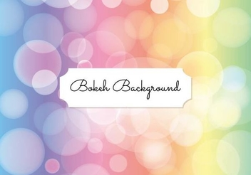 Colorful Bokeh Bubbles Background - vector gratuit #351371
