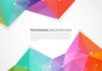 Colorful Triangles Abstract Background - vector gratuit #351391