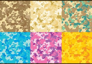Pixel Multicam Vector Patterns - бесплатный vector #351691