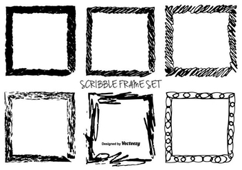 Hand Drawn Messy Scrible Vector Frames - бесплатный vector #351711