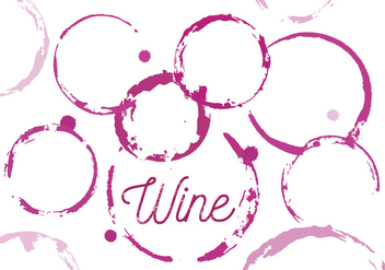 Vector Set of Wine Stains - vector gratuit #351721