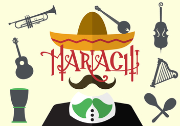 Vector Illustration of Mariachi - vector gratuit #351751