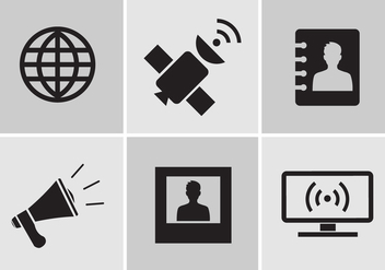 Communication Icons in Vector - Free vector #351771