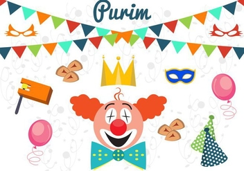 Vector Illustration of Purim - Free vector #351791
