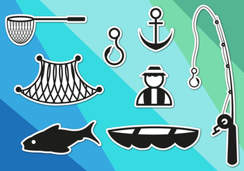 Fish Net Icons Vector - vector gratuit #351821
