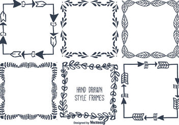Hand Drawn Vector Frame Set - Free vector #351831
