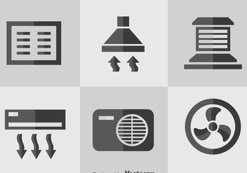 Hvac Flat Icons Vector - бесплатный vector #351901