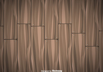Wooden Planks Vector Background - Kostenloses vector #351941