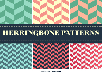 Herringbone Pattern Vector Set - Free vector #351951