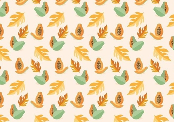 Papaya Vector Pattern - vector gratuit #352051