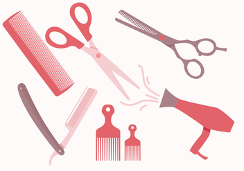 Barber Tools Vectors - бесплатный vector #352081