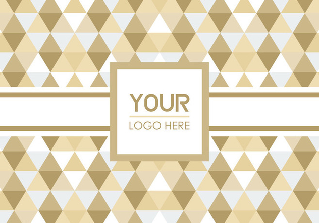 Free Triangle Geometric Logo Background - vector gratuit #352111