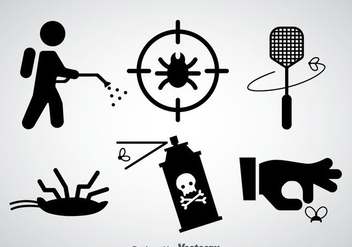 Pest Control Black Icons Vector - Free vector #352131
