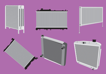 Various Type of Radiator Vector - бесплатный vector #352141