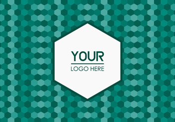 Free Emerald Geometric Logo Background - vector gratuit #352151