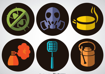 Pest Control Flat Icons Vector - Free vector #352171