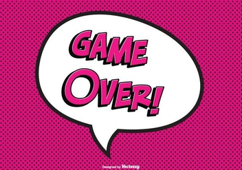 Comic Game Over Vector Illustration - Free vector #352281