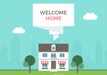 Free Welcome Home Vector Illustration - vector gratuit #352351