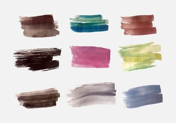 Free Colorful Brush Strokes Vector Pack - vector gratuit #352431