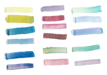 Pack of Free Colorful Brush Strokes Vector - Free vector #352441