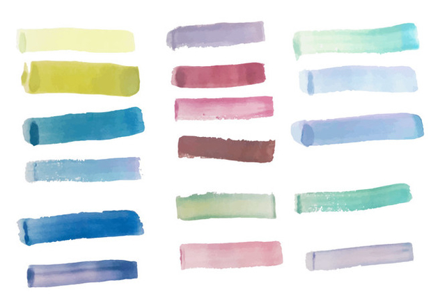 Pack of Free Colorful Brush Strokes Vector - vector gratuit #352441