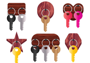Key Holder Vector - vector gratuit #352451