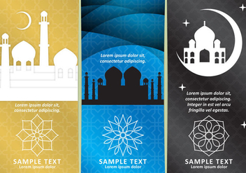 Arabian Night Vertical Flyers - Free vector #352501