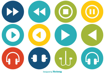 Multimedia Vector Icon Set - бесплатный vector #352511
