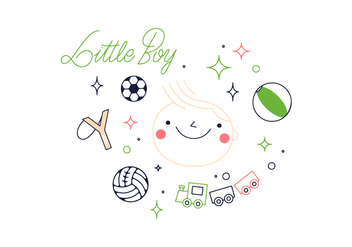 Free Little Boy Vector - vector #352651 gratis