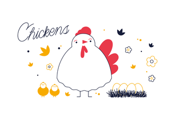 Free Chickens Vector - бесплатный vector #352661
