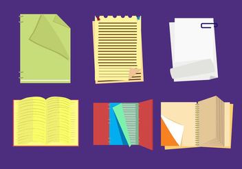 Flipped Pages Vector - vector gratuit #352701