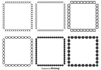 Hand Drawn Vector Frame Set - Free vector #352731