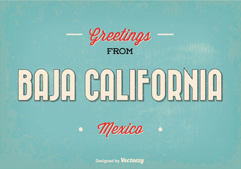 Baja California Mexico Greeting Illustration - vector gratuit #352741