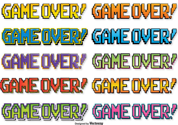 Comic Style Game Over Text - Kostenloses vector #352841