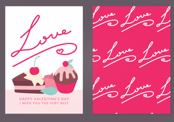 Vector Valentine's Day Card - Kostenloses vector #352911