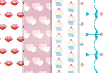 Valentine Vector Seamless Patterns - Free vector #352921