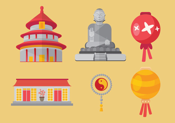 China Town Vector - vector #352961 gratis