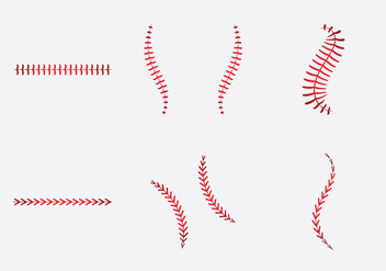 Free Baseball Laces Vector Illlustration - Kostenloses vector #353001
