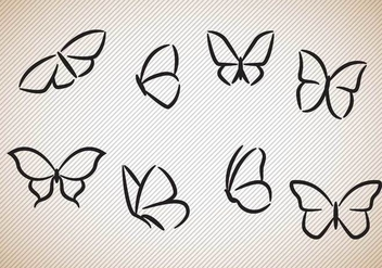 Free Butterflies Silhouettes Vector - Kostenloses vector #353041