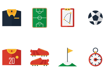 Football Kit Icon Vectors - Free vector #353051