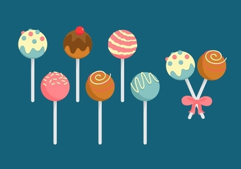 FREE CAKE POP VECTOR - Free vector #353071