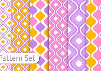 Colorful Decorative Pattern Design Set - vector #353091 gratis
